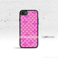 Pink Mermaid Scales Case Cover for Apple iPhone 7 6s 6 SE 5s 5 5c 4s 4 Plus & iPod Touch