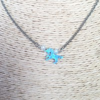 Unicorn Opal Necklace