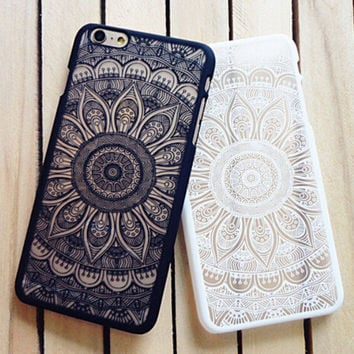 Vintage Lace Floral iPhone 8 8Plus  X 7 7 Plus 5 5s iPhone 6 6s Plus Case Cover Free Shipping+ Free  Gift Box