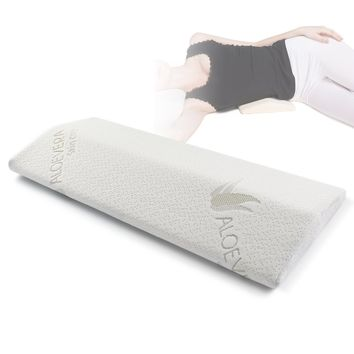 Soft Memory Foam Sleeping Pillow for Lower Back Pain,Multifunctional Lumbar Support Cushion for Hip,Sciatica and Joint Pain Relief,Orthopedic Side Sleeper Bed Pillow
