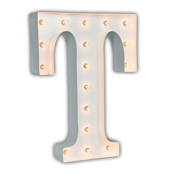 "24"" Letter T Lighted Marquee Letters (White Gloss)"