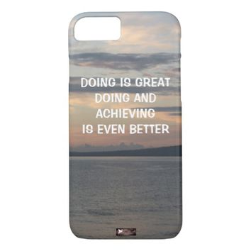 Achieving Photo Quote by Kat Worth iPhone 7 Case