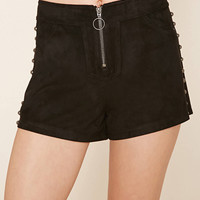 High-Rise Faux Suede Shorts