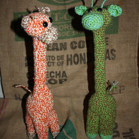 Made to order crochet giraffe by GuiniMartini on Etsy