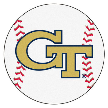 Georgia Tech Yellowjackets NCAA Baseball Round Floor Mat (29)