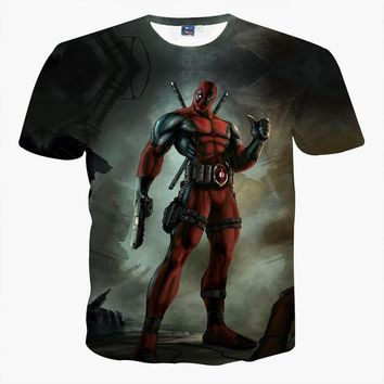 Deadpool Dead pool Taco Summer clothes Marvel Badass  big boys 3d t shirt large size Children T-shirt anime People AT_70_6