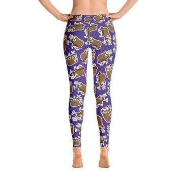 Phish Sloth Fishman Donut Leggings