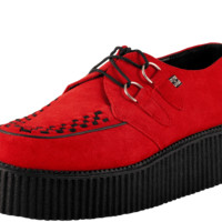 Red Suede Mondo Sole Creeper - T.U.K. Shoes