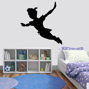 Vinyl wall decal - Peter Pans Silhouette Flying