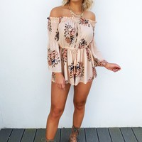A Perfect Summer Romper: Peach/Multi