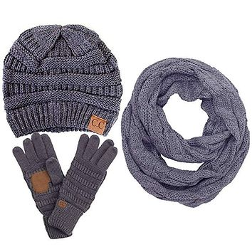 CC Gloves Scarf and Beanie set