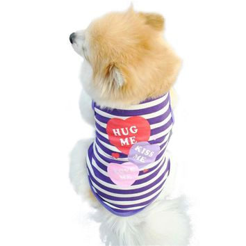 Fashion Stripe Cotton Pet Cat Dog Clothes Puppy Dog Coat Dog Costume Summer Vest Roupa Para Cachorro Clothing for Dogs