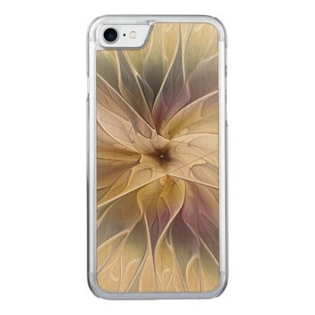 Floral Fantasy Pattern Abstract Fractal Art Carved iPhone 7 Case