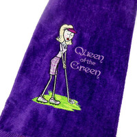 Golf Towel, Lady Golfer, Funny Golf Gift, Embroidered Towel, Ladies Golf Gift, Premium Towel, Personalize Golf, Customize, Funny Golf Towel