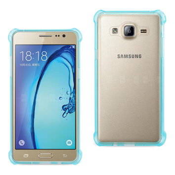Reiko REIKO SAMSUNG GALAXY ON5- J5 CLEAR BUMPER CASE WITH AIR CUSHION SHOCK ABSORPTION IN CLEAR NAVY