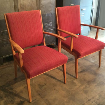 Danish Mid-Century Modern Arm Chairs