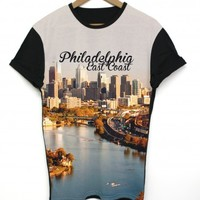 Philadelphia Black All Over T Shirt