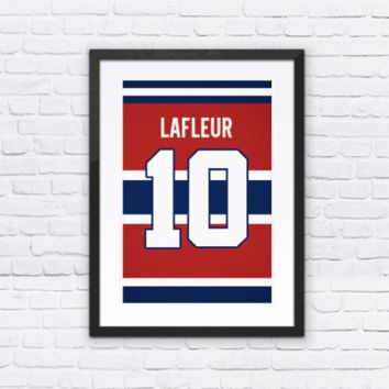 Guy Lafleur Number 10 Jersey