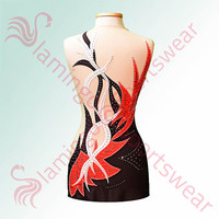 Gymnastics - Ice Skating Leotard - Black - Red