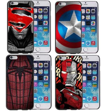 Deadpool Dead pool Taco Superhero Collection  Spiderman Ironman Batman Marvel Phone Case for iphone 7 7Plus 5 5S 6 6S Plus 8 8Plus X 10 Cover AT_70_6
