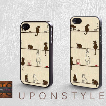 Phone Cases, iPhone 5 Case, iPhone 5s Case, iPhone 4 Case, iPhone 4s case, Cut art Cat, iPhone case, Case for iphone, Case No-250