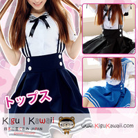 New Kawaii Lolita Fancy Seifuku Uniform Japanese Anime School Uniform and Jumper Strap Skirt Costume 3 Colors KK572