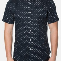 Men's 7 Diamonds 'Fame' Trim Fit Short Sleeve Print Woven Shirt,