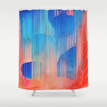 Hot n' Cold Shower Curtain by Ducky B