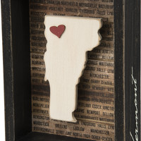 State Patriotic Pride Shadow Box Frame - Vermont