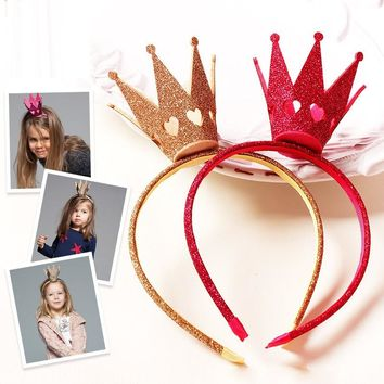 hairbands for Girls high quality Hair Band Felt Big Tiara Valentine Heart Carved Crown Bands Classic Trendy Vintage Party Gift