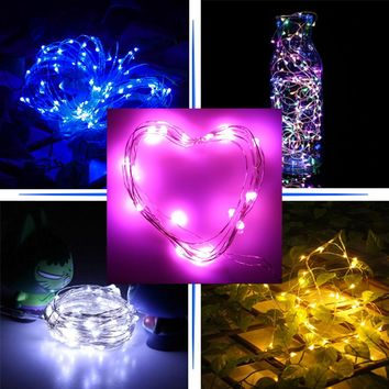 3m 30 LED Christmas Lights Garland Copper Wire String Light Christmas Decoration for Home Festival Wedding Party Decor