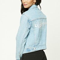 California Graphic Denim Jacket