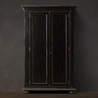French Empire Armoire Antiqued Black | Armoires | Restoration Hardware