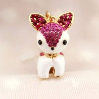 Earphone Jack Accessory 1pcs of Bling Lovely Rose Red Crystal Deer/ Dust Plug / Ear Jack For For Iphone 4 4S / iPad / iPod Touch / Other 3.5mm Ear Jack