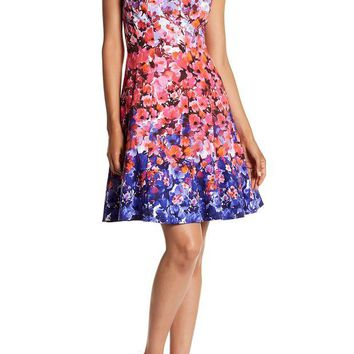DCCKHB3 Maggy London | Sunset Bloom Fit & Flare Dress