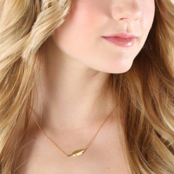 Down To Earth Necklace-Gold
