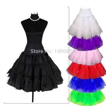 2015 A-Line Underskirt Swing Vintage Sexy Short Skirt for woman girl Pettiskirt Petticoat Fancy Net Skirt Rockabilly Tutu (10 Colores To Choosing)HBQ1057 = 1945816324
