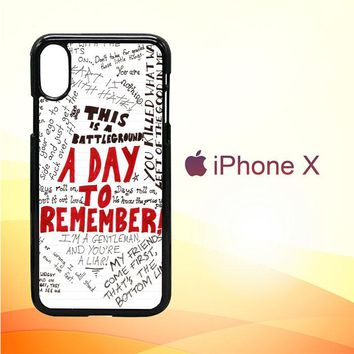A Day To Remember WALLPAPER Y0237 iPhone X Case