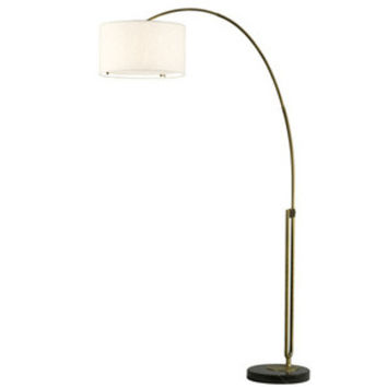 Nova Lighting Viborg Arc Lamp White Shade