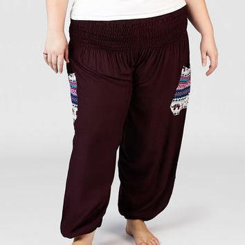 Rombo Purple Plus Size Harem Pants