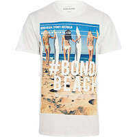 White Bondi Beach photo print t-shirt - print t-shirts - t-shirts / tanks - men