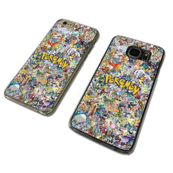 POKEMON COLLAGE CLEAR PHONE CASE COVER fits iPHONE / SAMSUNG (TH)