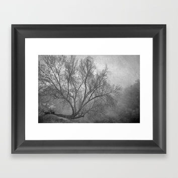 Morning in the fog. M Framed Art Print by Guido Montañés