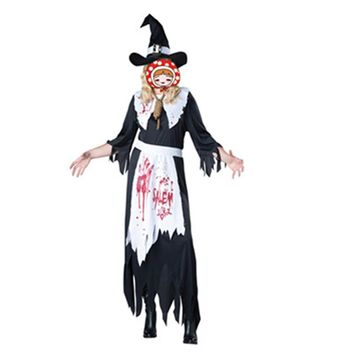 2017 Irregular Black Halloween Witch Costumes Adult The Wizard of Oz Devil Cosplay Halloween Carnival Party Fancy Dress cheap