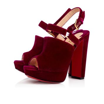 Tamila 140 Figue Velvet - Women Shoes - Christian Louboutin