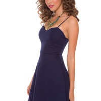 Alina Dress - Navy