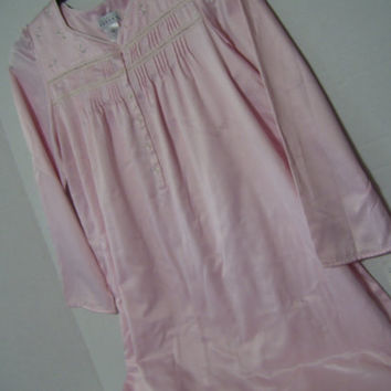 Komar Celestial Dreams  Long Night Gown Pink Satin with Brushed Lining Gifts for Her