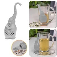 4 Colors Silicone Elephant Shape Mug Cup Loose Leaf Herb Spiece Filter Tea Infuser non-stick pan Machine washable Cup Infuser
