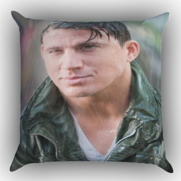 Channing Tatum rain  X1192 Zippered Pillows  Covers 16x16, 18x18, 20x20 Inches