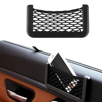 15X8cm Automotive Bag With Adhesive Visor Car Net Organizer Pockets Net